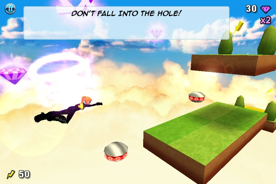 Depth: With a single touch you will be able to activate buttons, jump, swim, fly, use ziplines and more